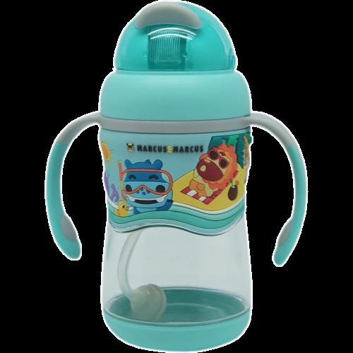 Marcus & Marcus 2-Stage tritan straw bottle – Blue