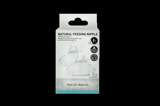 Marcus & Marcus Silicone Feeding Nipple (slow flow) (0М+) – Set of 2 pcs.