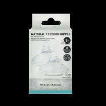 Marcus & Marcus Silicone Feeding Nipple (various flow) (0М+) – Set of 2 pcs.